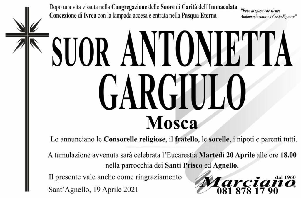 Sant'Agnello, addio a Suor Antonietta Gargiulo (Mosca)