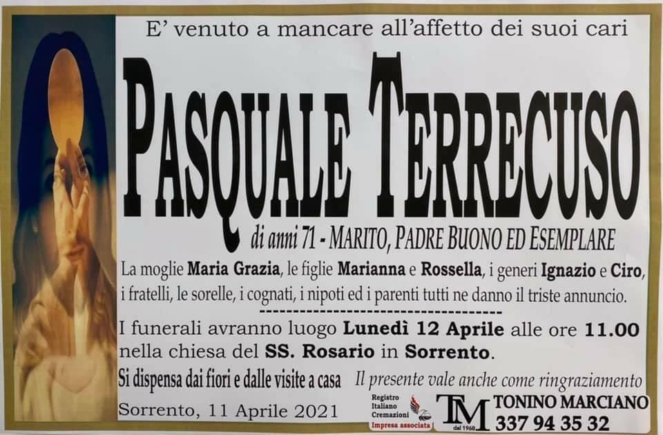 Sorrento, all'età di 71 anni è venuto a mancare Pasquale Terrecuso
