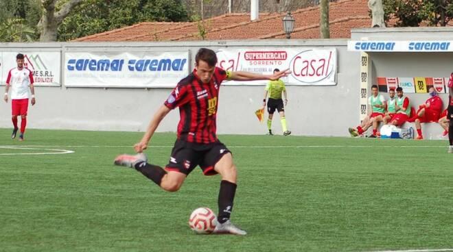"""Sorrento Calcio, gran golo di Alfonso Gargiulo: """"Sono molto contento, uno dei più belli della mia carriera"""""""