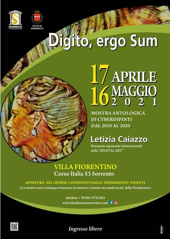 """Sorrento: """"Digito, ergo Sum"""", mostra e catalogo d'arte di Letizia Caiazzo a Villa Fiorentino"""