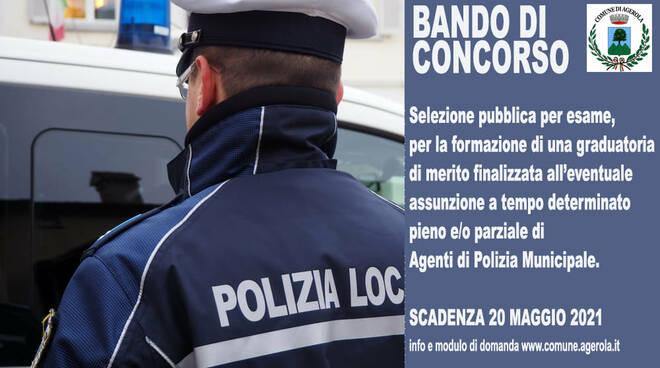 Agerola, bando di concorso per l'assunzione di Agenti di Polizia Municipale