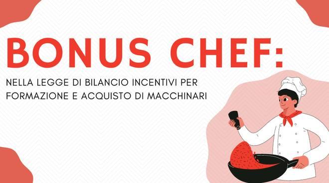 """Arriva il """"Bonus Chef"""". La FENAILP spiega cos'è ed a chi spetta"""