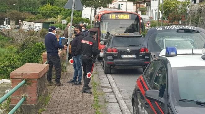Botte da orbi sul bus a Ischia, Sei denunciati e tre feriti