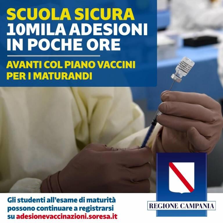 campania vaccino maturandi