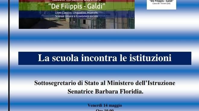 Al Liceo De Filippis Galdi di Cava de' Tirreni incontro con la Senatrice Barbara Floridia, sottosegretario del Ministero dell'Istruzione