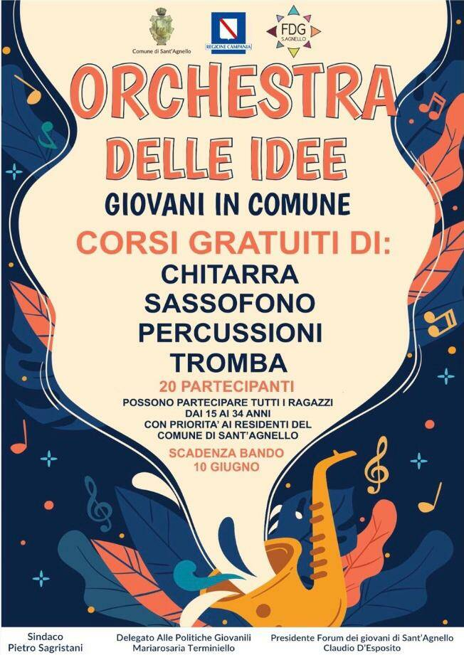 """Forum dei Giovani di Sant\'Agnello: in partenza \""""L\'orchestra delle idee\"""""""