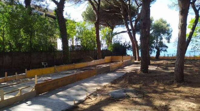 Castellammare di Stabia, cemento nel Parco delle Nuove Terme. L'EAV: sequestro immotivato