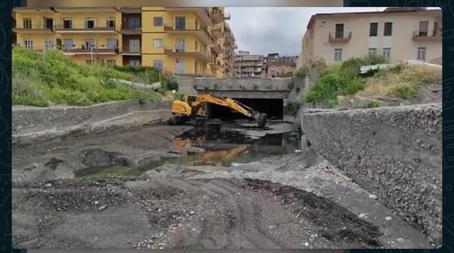 Castellammare di Stabia, lavori al rivolo San Marco tra mille difficoltà