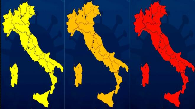 Coronavirus: cala l'Rt, Italia quasi tutta gialla. Solo la Valle d'Aosta resta in zona arancione