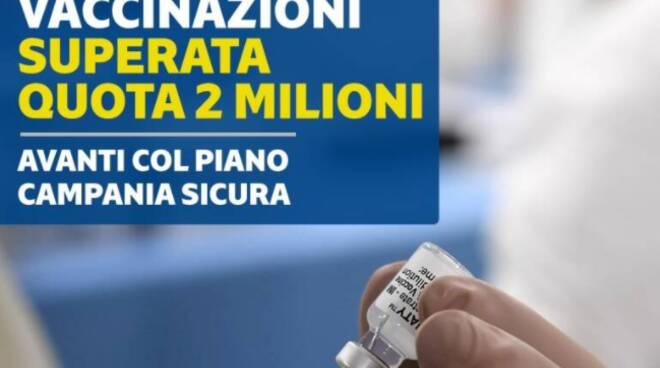Coronavirus, vaccinazioni in Campania: raggiunta la quota di 2 milioni di dosi