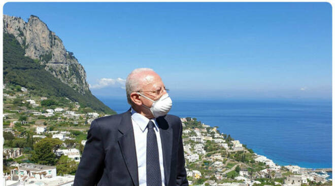 """""""Da oggi Capri è Covid free"""": l'annuncio di De Luca"""
