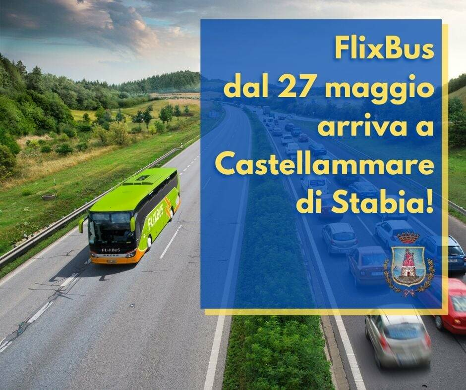 Dal 27 maggio Flixbus arriva a Castellammare di Stabia