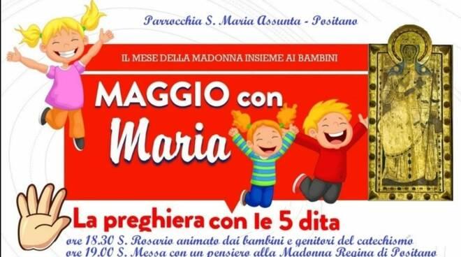 La bella iniziativa di Positano: Maggio con Maria, il mese della Madonna insieme ai bambini