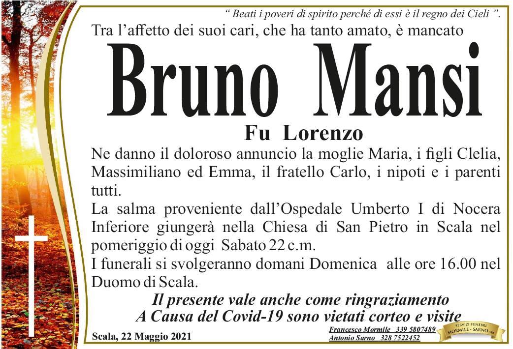 Lutto a Scala: ci ha lasciati Bruno Mansi