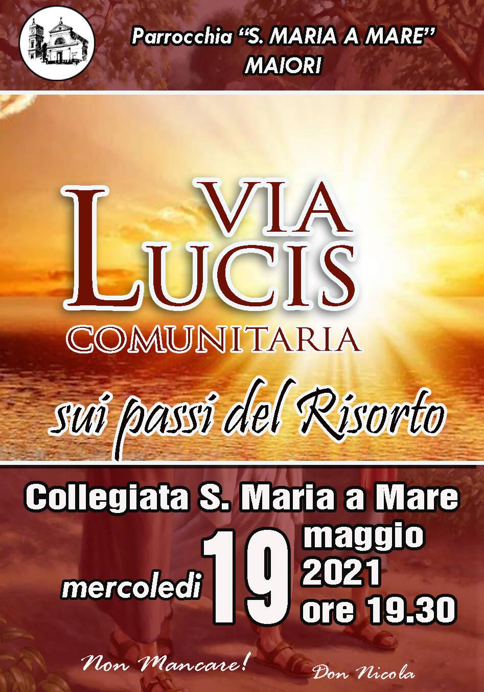 Maiori, questa sera il rito della Via Lucis presso la Collegiata di S. Maria a Mare