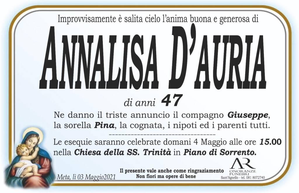 Meta/Piano di Sorrento: lutto per l'improvvisa scomparsa di Annalisa D'Auria. Aveva 47 anni