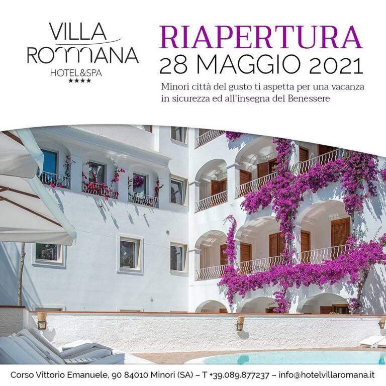 Minori, il 28 maggio riapre l'Hotel Villa Romana e SPA a 4 stelle
