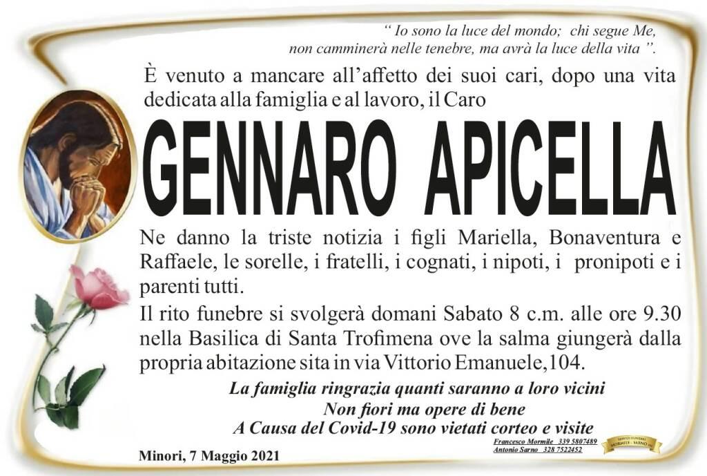 Minori in lutto per Gennaro Apicella