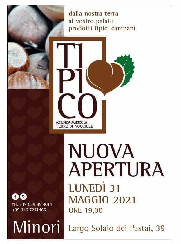"""Minori, lunedì 31 maggio apre """"Tipico"""", Azienda Agricola Terre di Nocciole"""