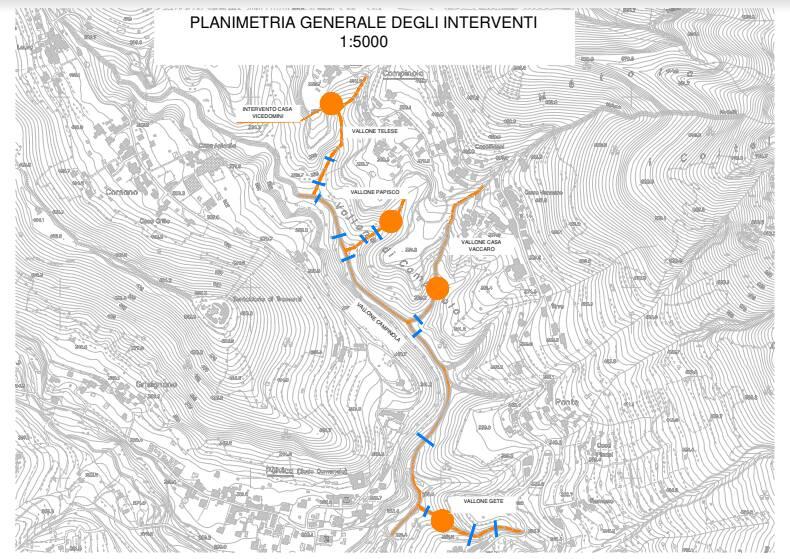 Nuovo finanziamento al Comune di Tramonti per la mitigazione del rischio idrogeologico, stavolta del Vallone di Campinola: oltre un milione dalla Regione