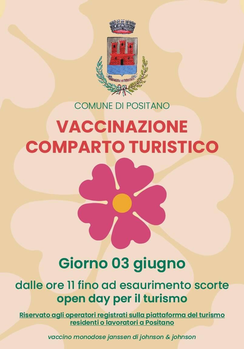 Open Day a Positano: il 3 giugno vaccinazioni al comparto turistico