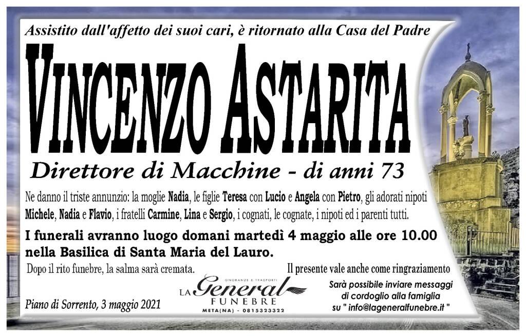 Piano di Sorrento a lutto per la perdita di Vincenzo Astarita