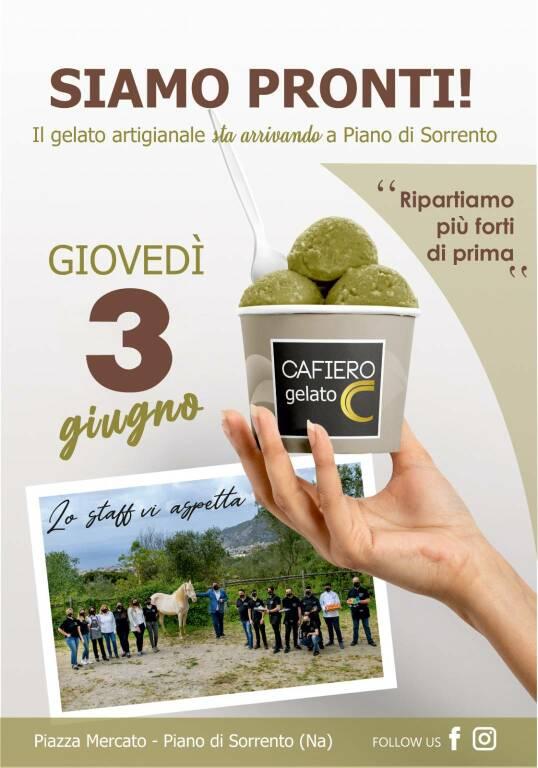 Piano di Sorrento: arriva il gelato artigianale al Cafiero Cafè