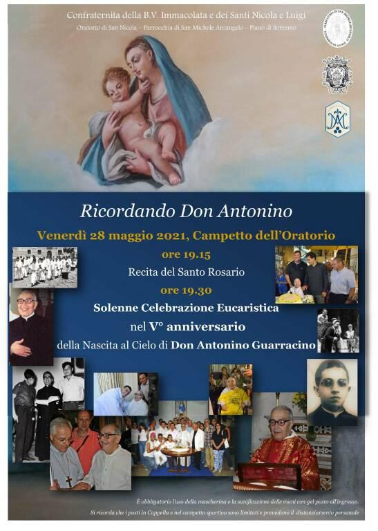 Piano di Sorrento, cinque anni senza Don Antonino. Venerdì una celebrazione per ricordarlo