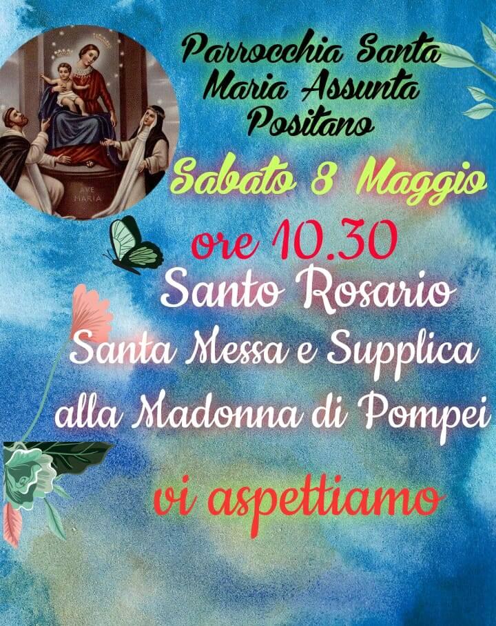 Positano, celebrazione alla Madonna di Pompei