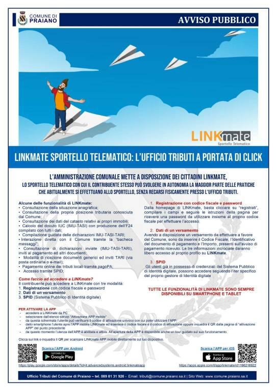 Praiano, arriva LinkMate Sportello telematico: l'ufficio tributi a portata di click