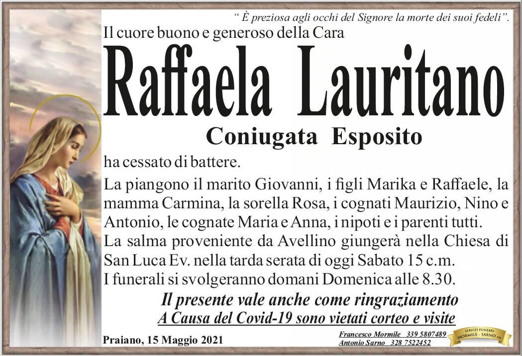 Praiano in lutto: ha cessato di battere il cuore di Raffaela Lauritano, coniugata Esposito