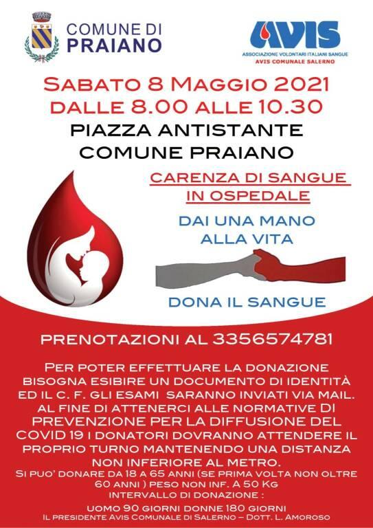 Praiano, sabato 8 maggio giornata dedicata alla donazione del sangue