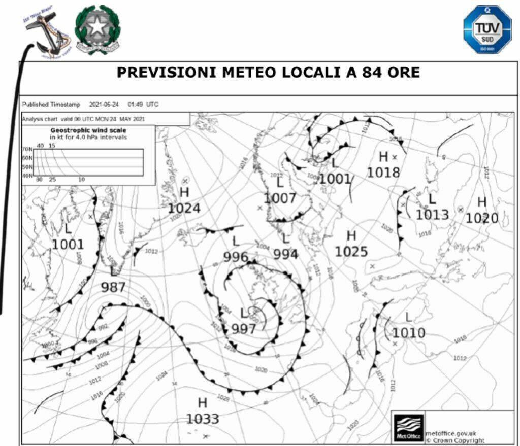 Previsioni Meteo del Nautico di Piano di Sorrento con Positanonews, inizio settimana soleggiato