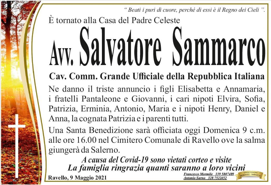 Ravello: è tornato alla Casa del Padre l'Avv. Salvatore Sammarco, Cav. Comm. Grande Ufficiale della Repubblica Italiana