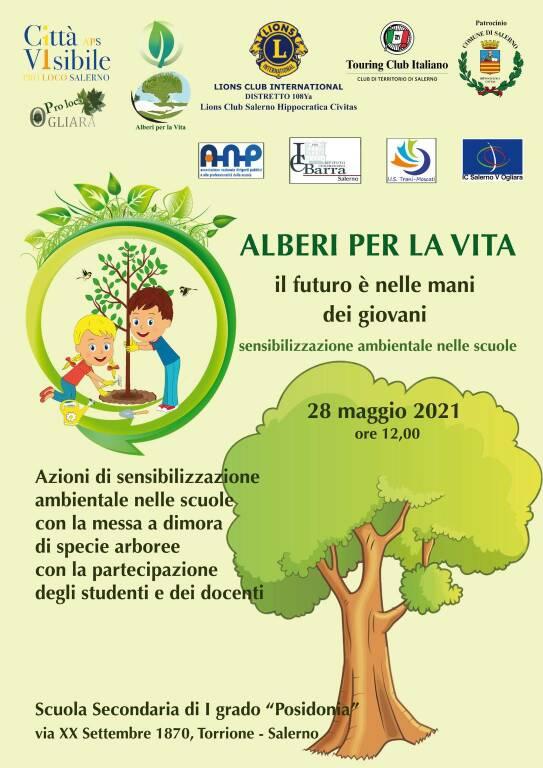 """Salerno """"Alberi per la vita"""", il futuro è nelle mani dei giovani"""