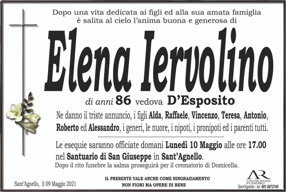 Sant'Agnello, all'età di 86 anni si è spenta Elena Iervolino, vedova D'Esposito