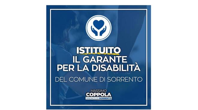 Sorrento, avviato l'iter per l'individuazione del Garante comunale per la disabilità