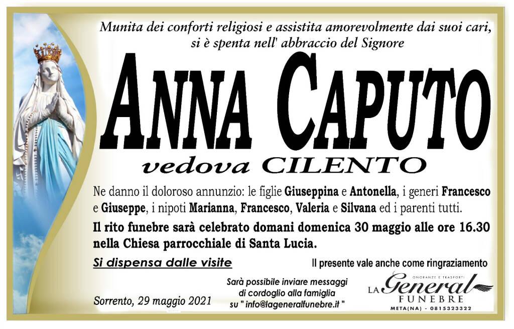 Sorrento in lutto: si è spenta Anna Caputo, vedova Cilento