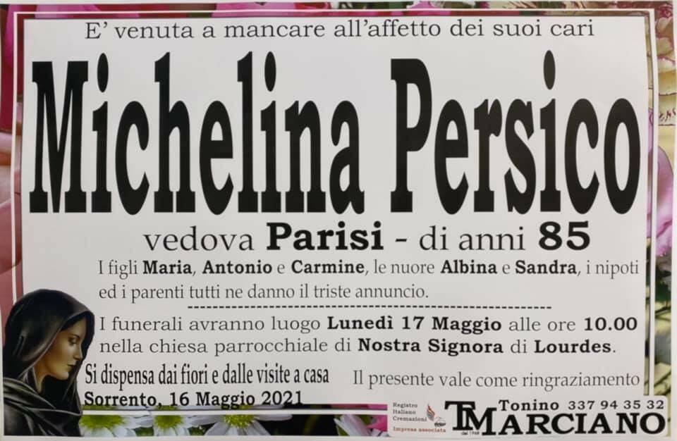 Sorrento piange l'85enne Michelina Persico, vedova Parisi