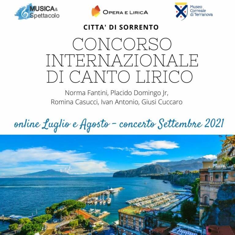 Torna con la II edizione il Concorso Internazionale di Canto Lirico Città di Sorrento. Aperte le iscrizioni online fino al 15 luglio