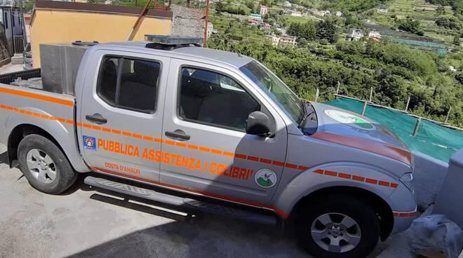"""Tramonti: nuovo mezzo per """"I Colibrì"""", servirà per l'emergenza incendi"""