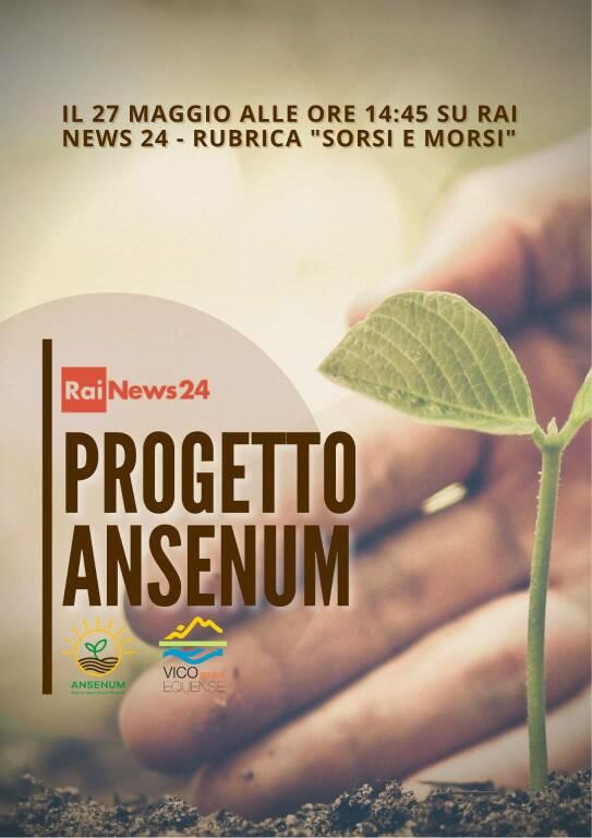 """Vico Equense tra i protagonisti della rubrica """"Sorsi e Morsi"""" di Rai News 24: puntata dedicata al Progetto ANSENUM"""