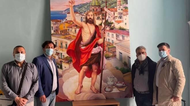 Vietri sul Mare: consegnato il nuovo quadro di San Giovanni Battista, domenica sarà portato in Chiesa