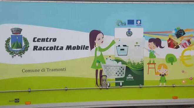 A Tramonti parte il centro di raccolta rifiuti mobile itinerante