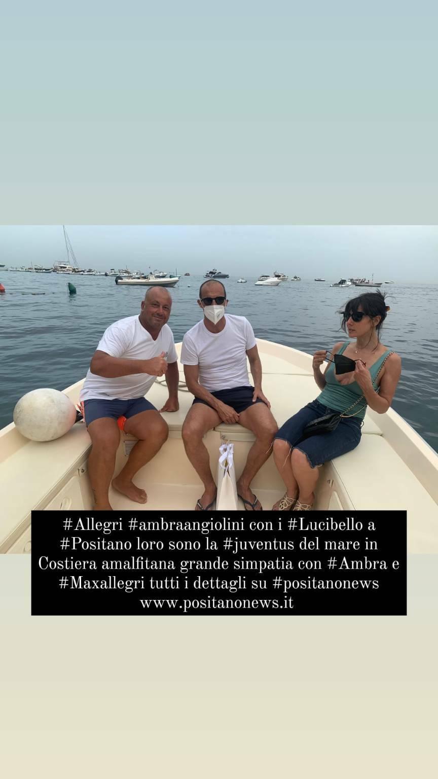 Ambra Angiolini e Max Allegri