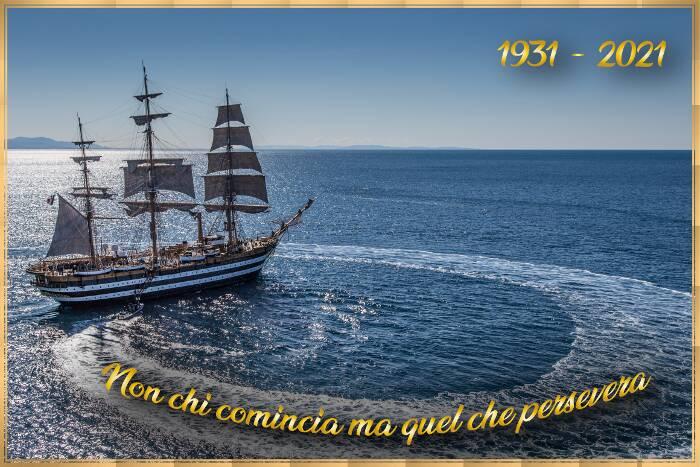 A Castellammare di Stabia l'annullo filatelico dedicato al 90° anniversario del varo della nave scuola Amerigo Vespucci
