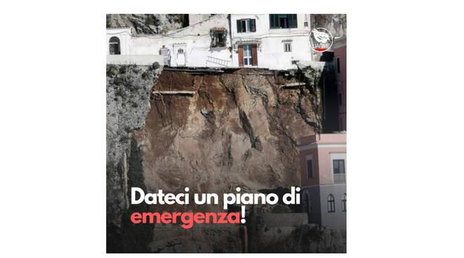 """Collettivo UANM, frana del 2 febbraio 2021 ad Amalfi: """"Dateci un piano di emergenza!"""""""
