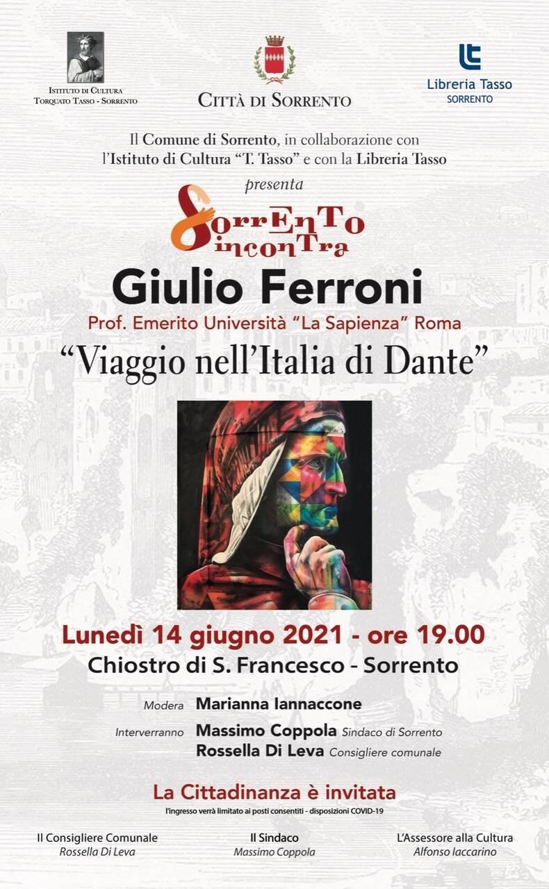 Cultura. Viaggio nell'Italia di Dante, appuntamento a Sorrento con Giulio Ferroni