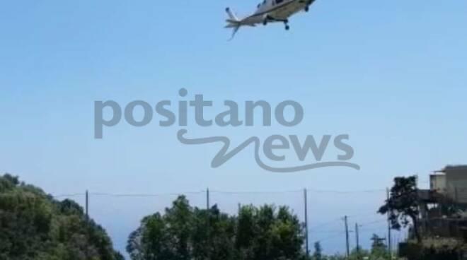 Elicottero a Positano