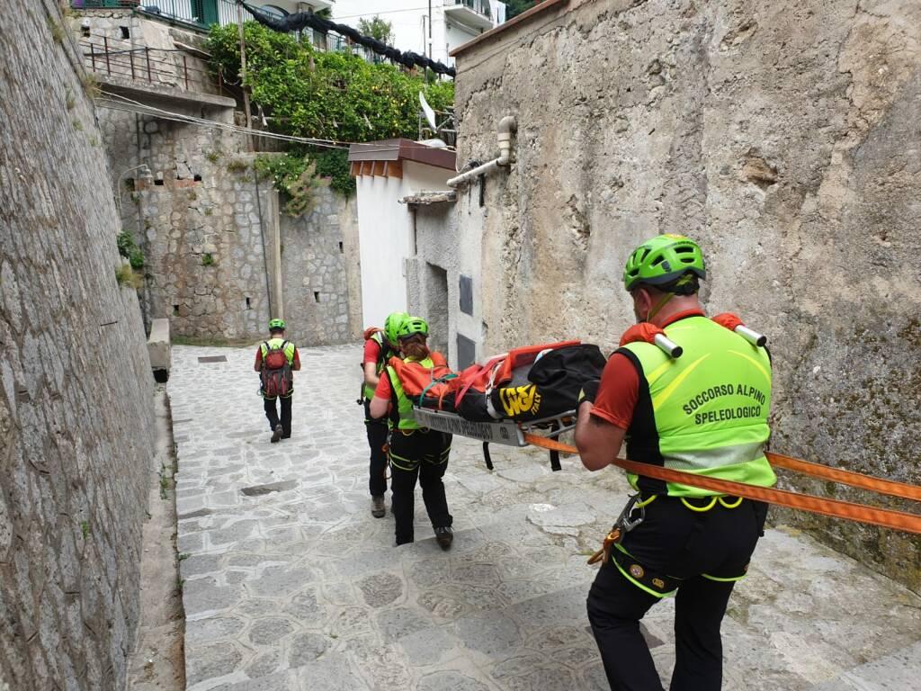 escursionista salvata dal CNSAS valle delle ferriere